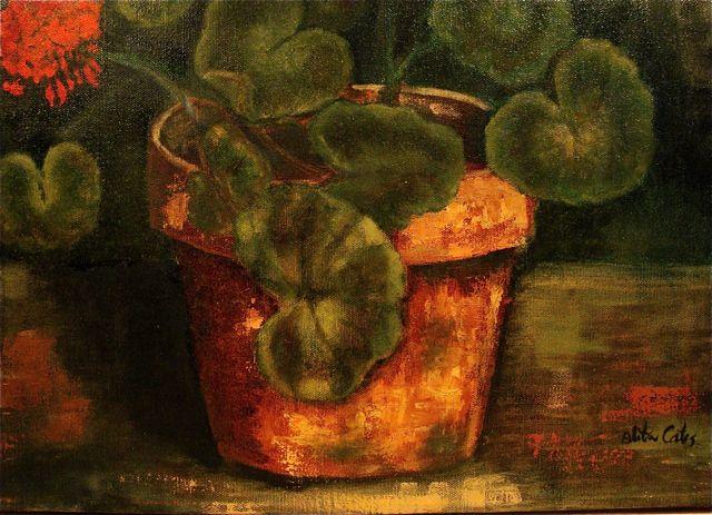 Geraniums-Oleta-flowerpot