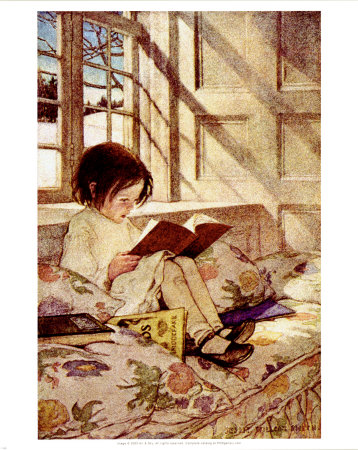 Jessie-wilcox-smith-books-in-winter